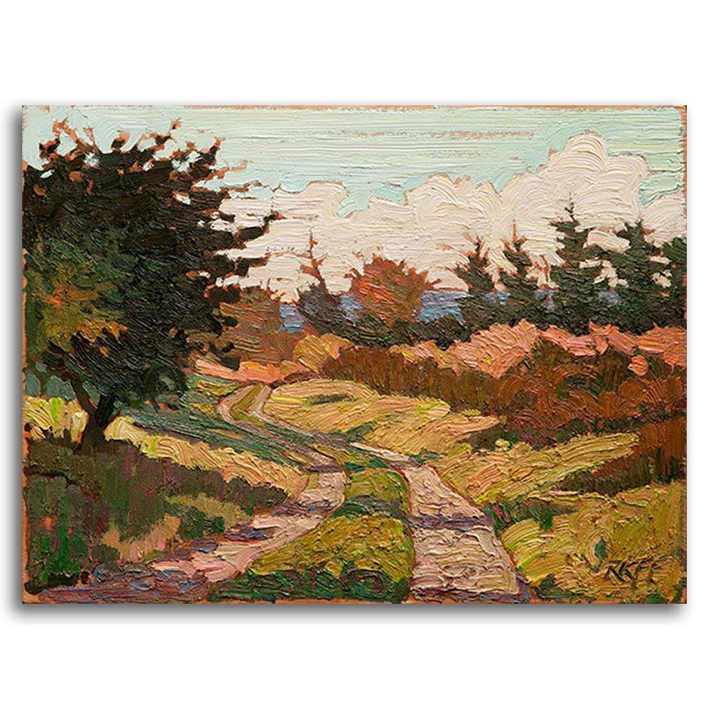 Summer Path Oil on Board by Ken Faulks