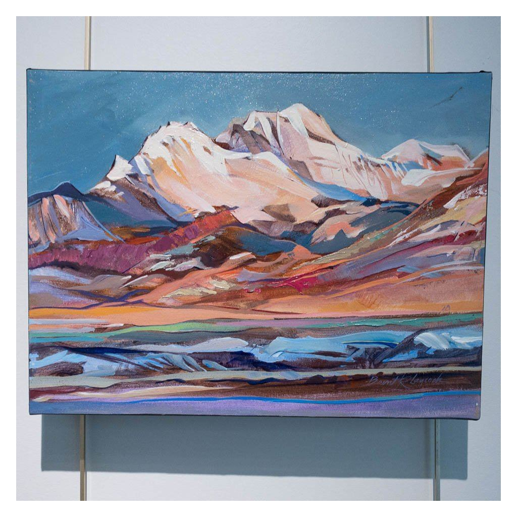 Sunlit Peaks Acrylic on Canvas by Brent Laycock RCA