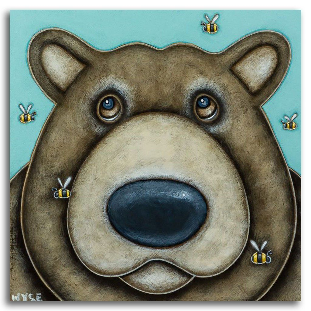 The Buzz Acrylic on Board by Peter Wyse