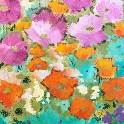 The Colours of the Wonderful Season Acrylic on Canvas by Claudette Castonguay