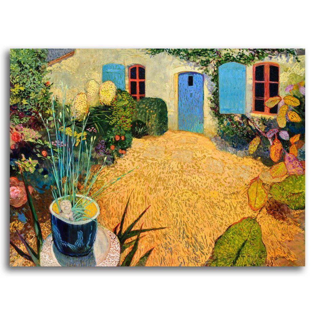 The French Cottage Door Acrylic on Canvas by Paul Jorgensen