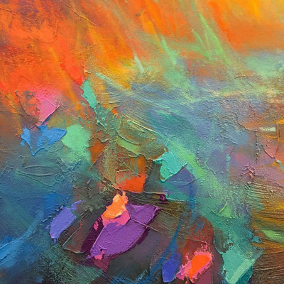 The Lava Flow Mixed Media on canvas by Blu Smith