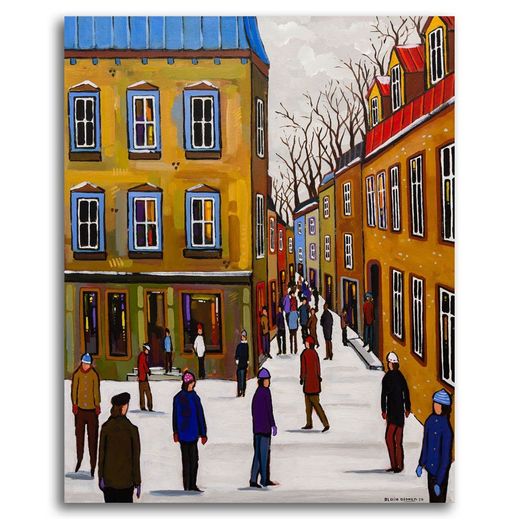 The Most Beautiful Street Acrylic on Canvas Alain Bédard