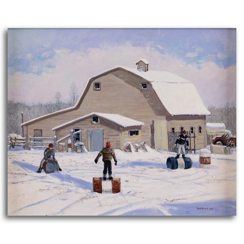The snow is not too deep Oil on Canvas Peter Shostak