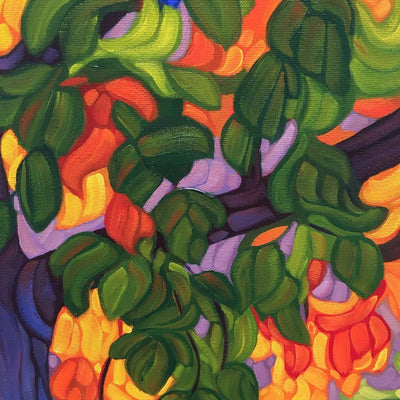 The Tree of Life My Soul Hath Seen Oil on Canvas by Mary Ann Laing