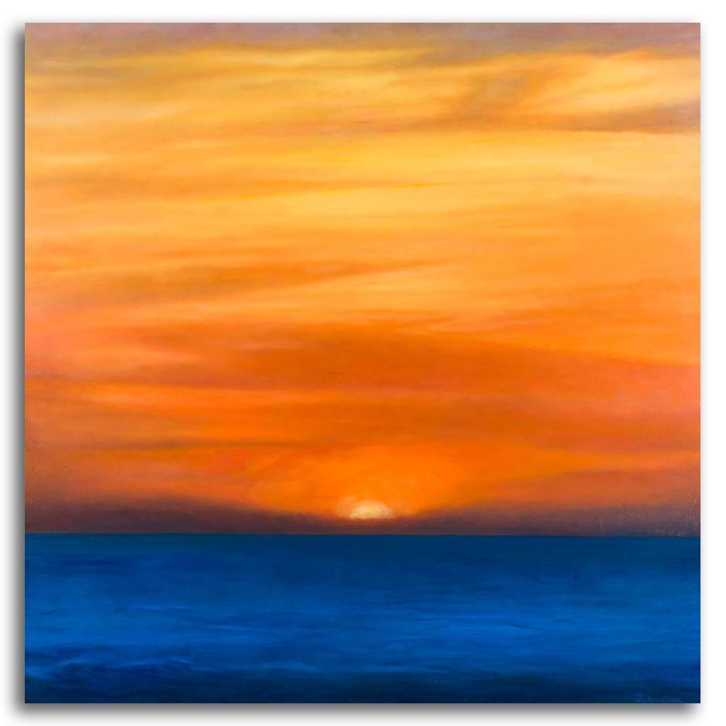 Third Sunset Oil on Canvas by Patricia Johnston