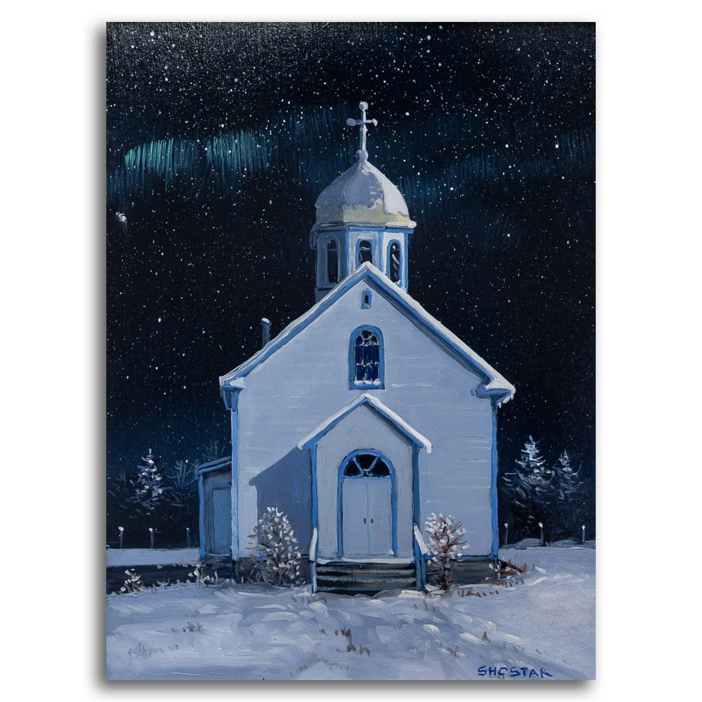 This church is well looked after Oil on Board Peter Shostak
