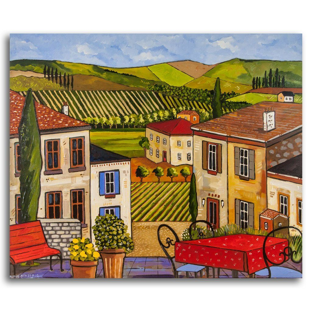 Toscane Acrylic on Canvas by Alain Bédard