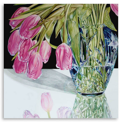 Touched by Spring #1 Coloured Pencil on Paper on Cradled Board by Jeannette Sirois