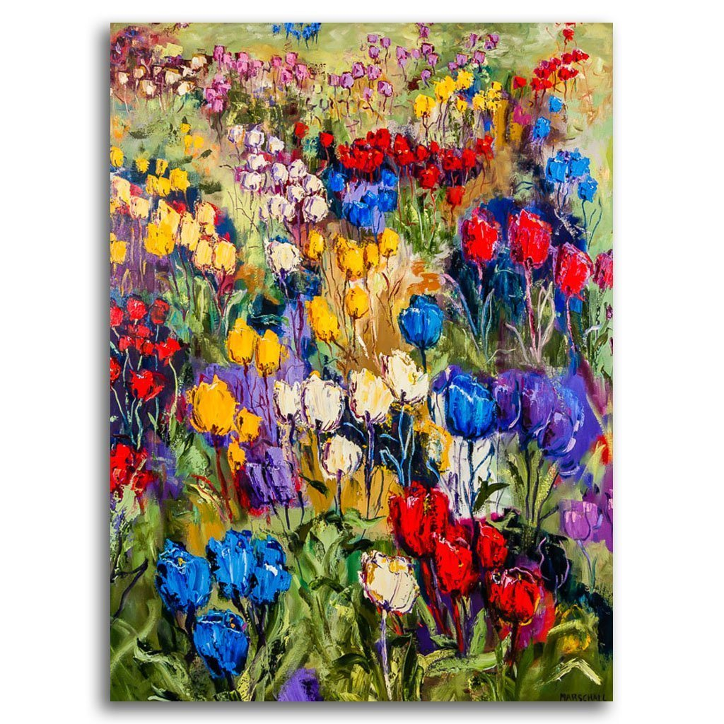Tulip Festival Oil on Canvas by Gerda Marschall