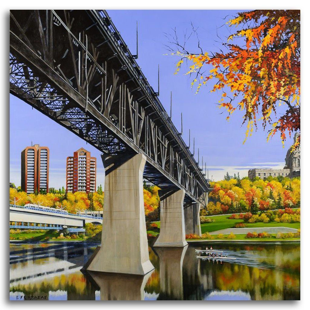 Two Bridges East Acrylic on Canvas by Fraser Brinsmead