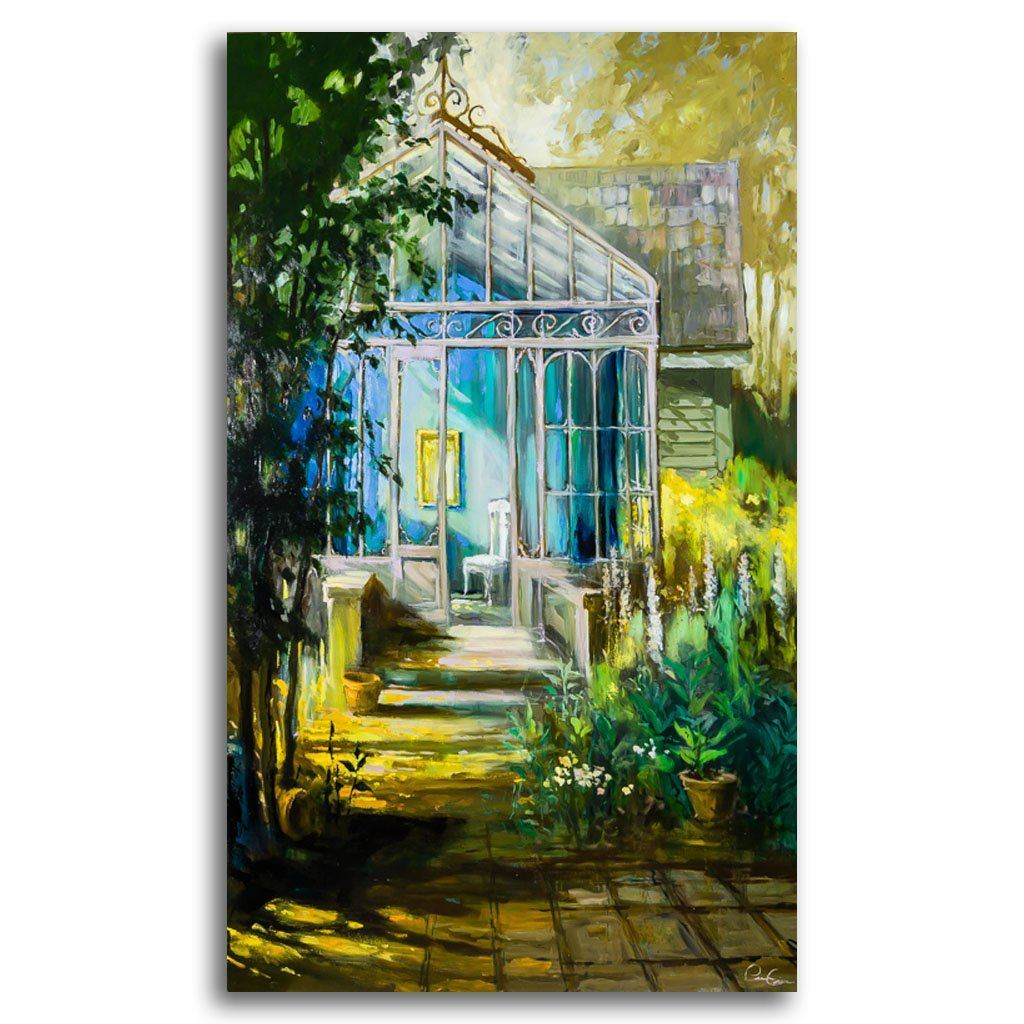 victorian greenhouse Oil on Canvas by Pierre Giroux
