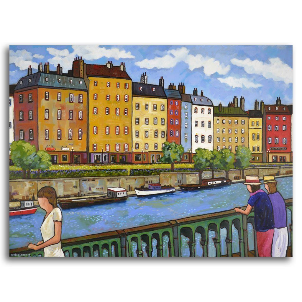Vision on the Seine Acrylic on Canvas by Alain Bédard