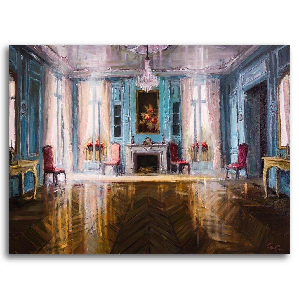 Visions of a Victorian Room Oil on Canvas by Pierre Giroux