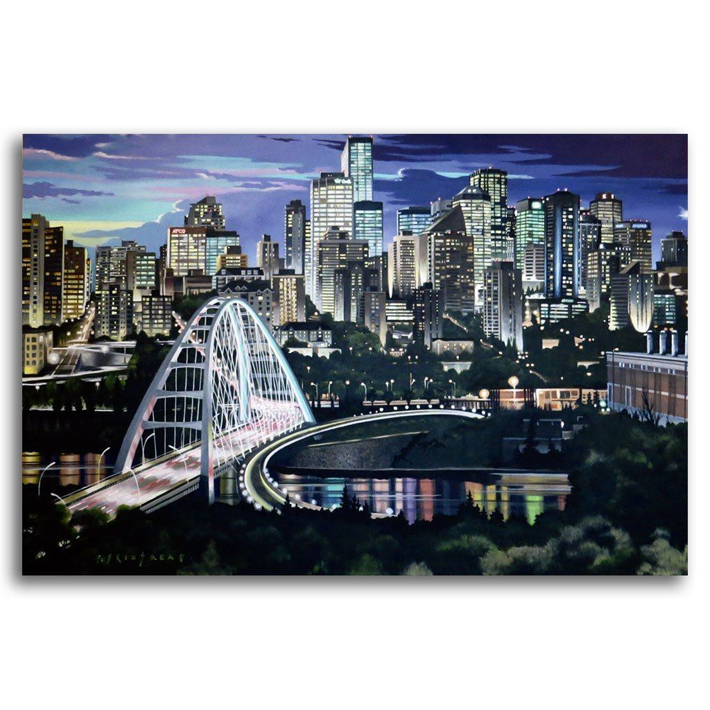 Walterdale Bridge Acrylic on Canvas by Fraser Brinsmead