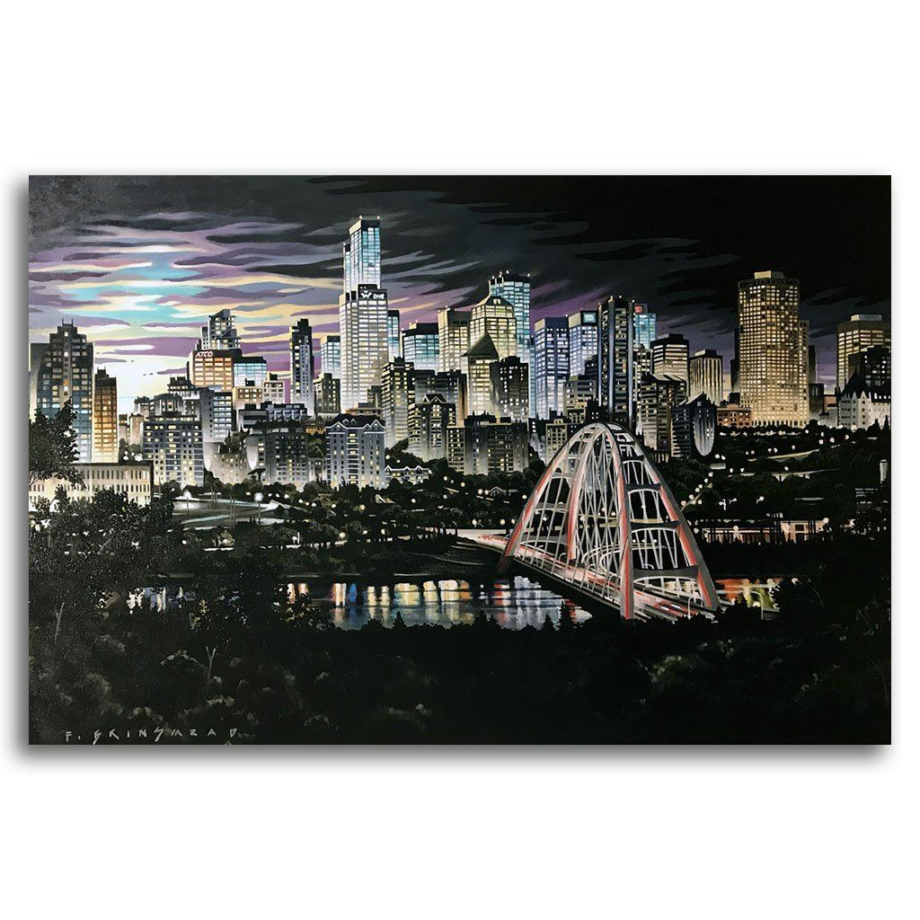 Walterdale West Acrylic on Canvas by Fraser Brinsmead