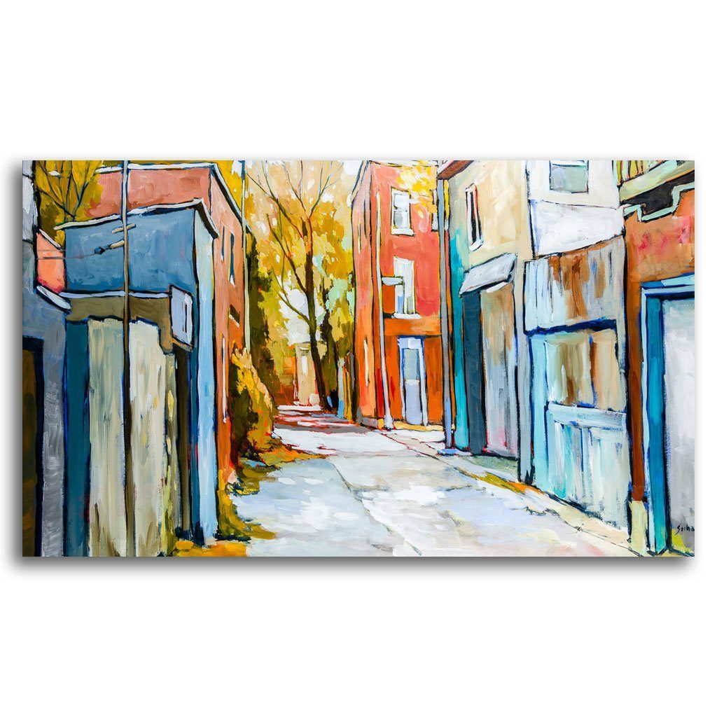 Warm Morning in an Alley Acrylic on Canvas by Sacha Barrette