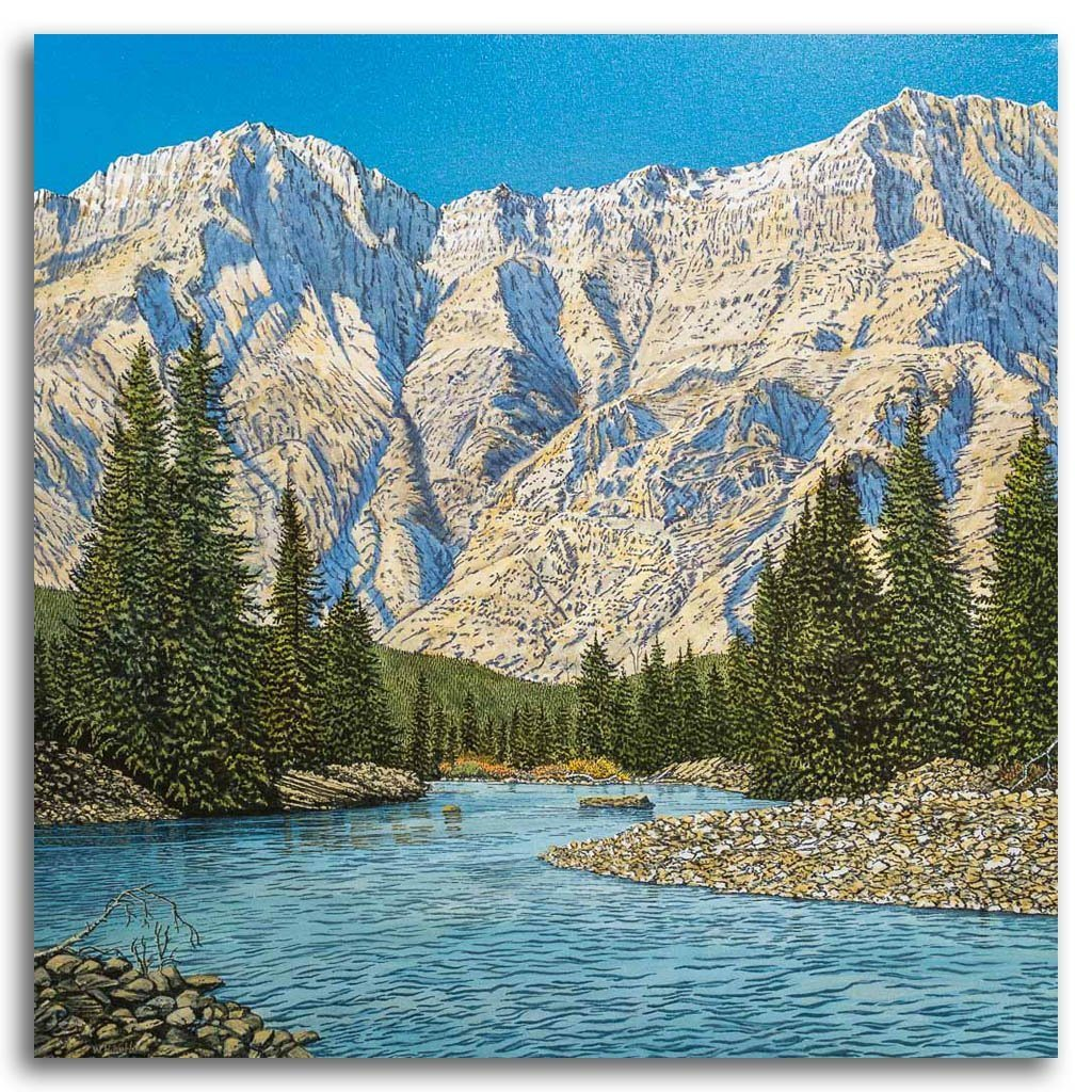 Waterton Way Acrylic on Canvas by W. H. Webb