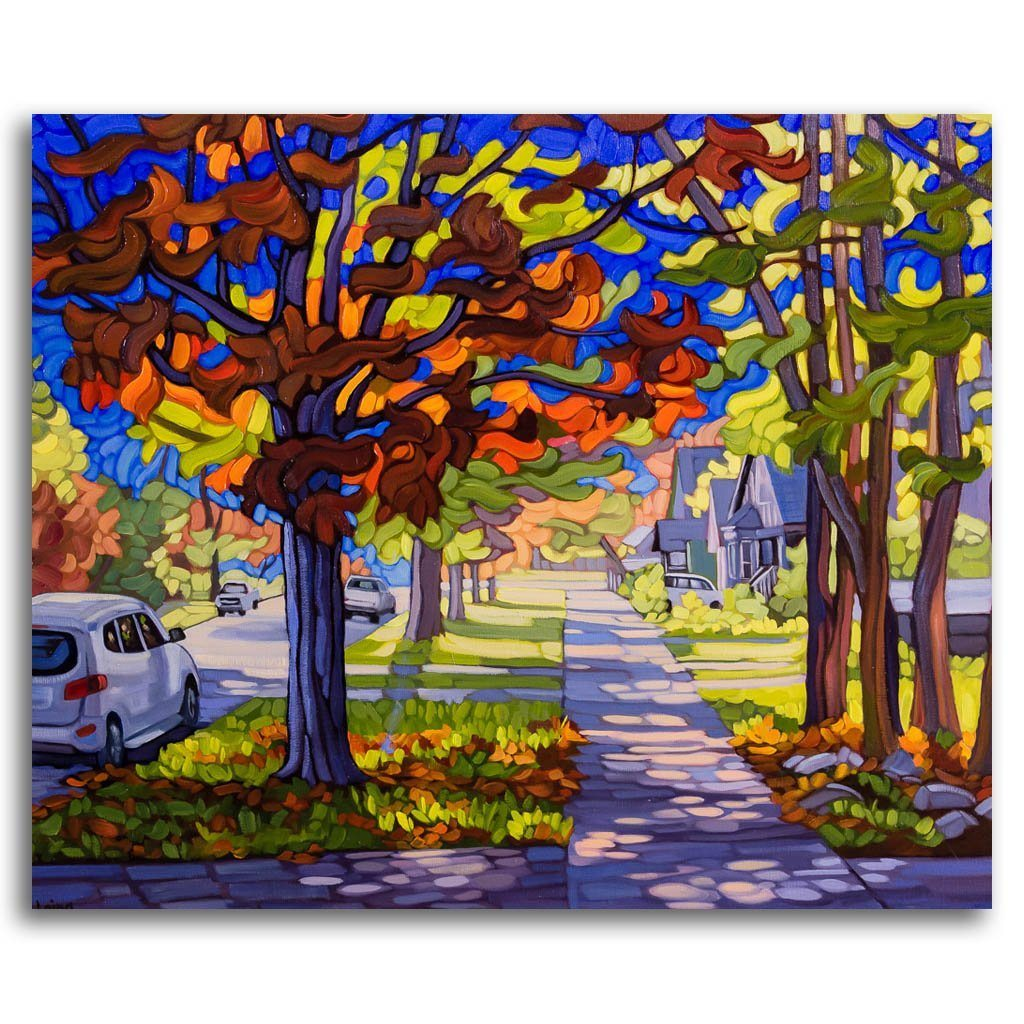 Wildwood Street Wander Oil on Canvas by Mary Ann Laing
