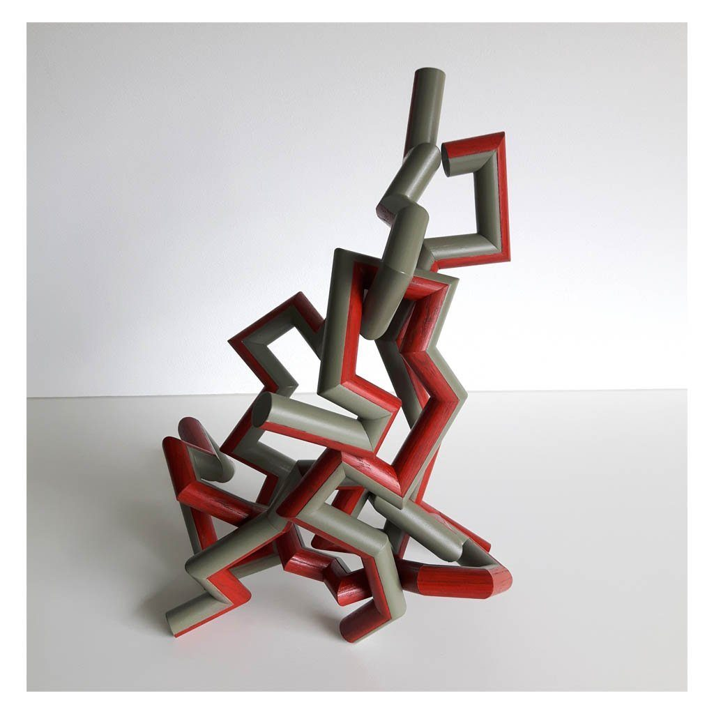 Write #1: A Multi Configurable Sculpture Reclaimed Wood Mixed Media Sculpture by Andrew Mirth
