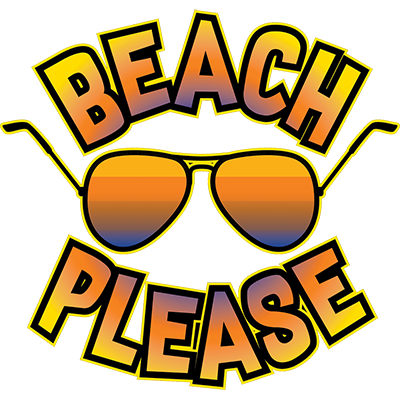 Beach Please Heat Transfer