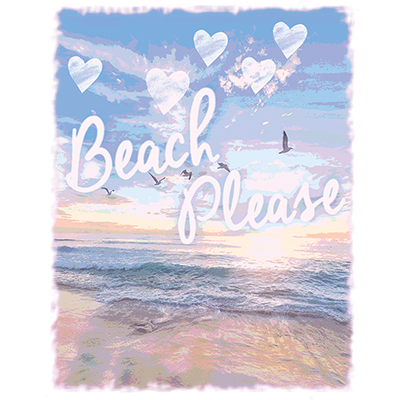 Beach Sunset Heat Transfer