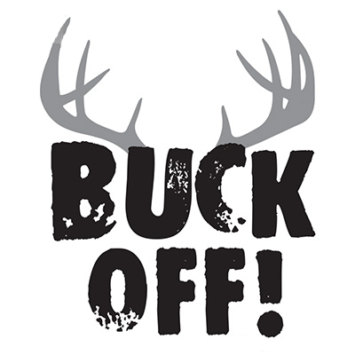 Buck Off Sticker