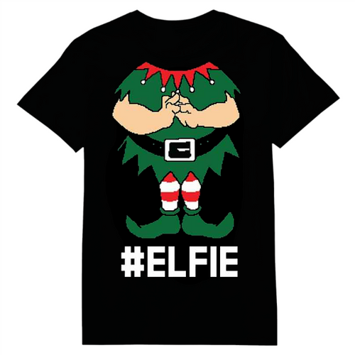 Elfie Christmas Heat Transfer