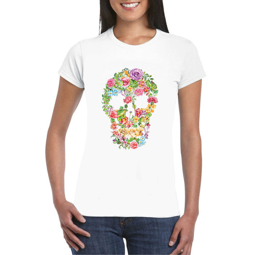 Flower Skull Art Heat Transfer