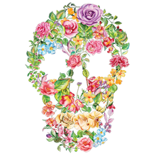 Load image into Gallery viewer, Flower Skull Art Heat Transfer