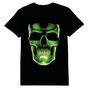 Skull Glow In The Dark Heat Transfer