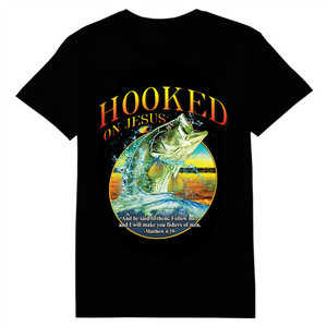 Hooked On Jesus Heat Transfer