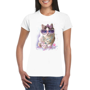 Kitten Rhinestone Heat Transfer