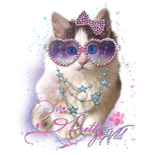 Load image into Gallery viewer, Kitten Rhinestone Heat Transfer