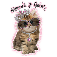 Load image into Gallery viewer, Meow's It Going Rhinestone Transfer
