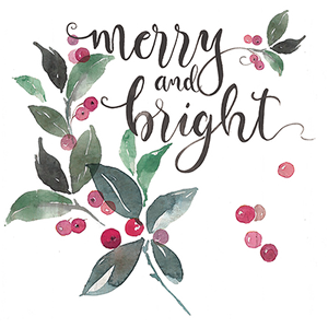 Merry And Bright Berries Heat Transfers