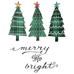 Merry And Bright Trees Heat Transfers