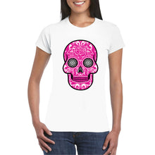 Load image into Gallery viewer, Pink Sugar Skull Transfer