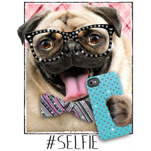 Load image into Gallery viewer, Pug Selfie Rhinestone Transfer