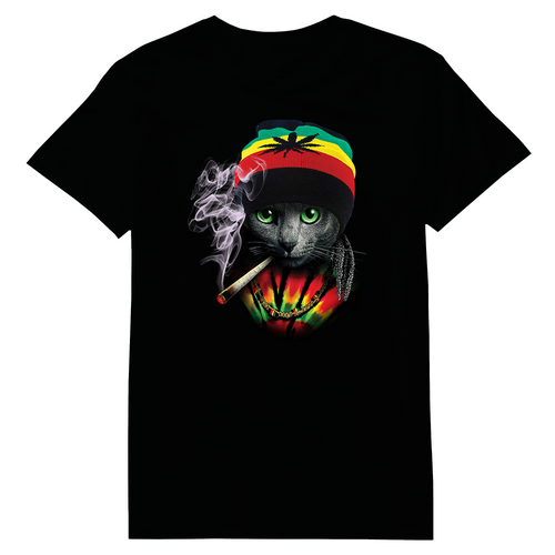 Rasta Cat Heat Transfers