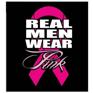 Real Men Wear Pink Sticker