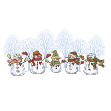 Load image into Gallery viewer, Snowman Band Heat Transfers