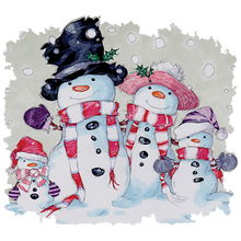 Load image into Gallery viewer, Snowman Family Heat Transfers
