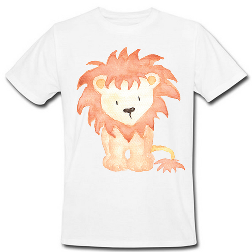 Watercolor Lion Heat Transfer