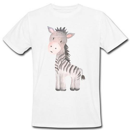 Watercolor Zebra Heat Transfer