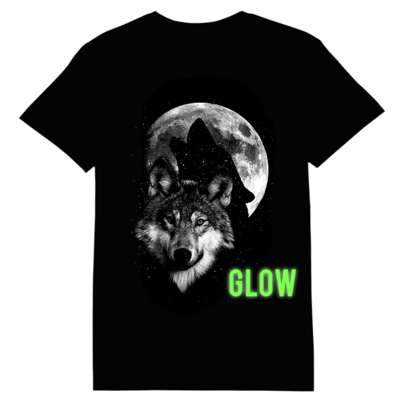 Wolf Moon Glow In The Dark Heat Transfer