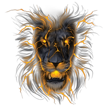 Load image into Gallery viewer, Lion Glow In The Dark Heat Transfer