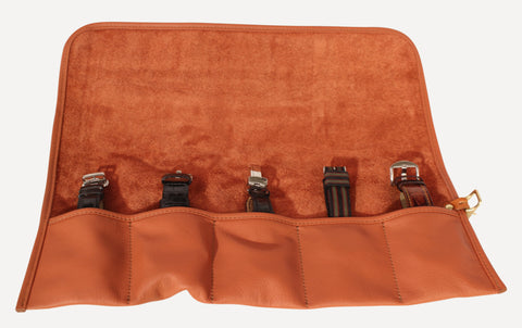 The Signature Watch Roll - Cognac