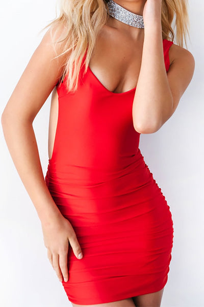 Mini Vestido Simples Bodycon Costa Nua