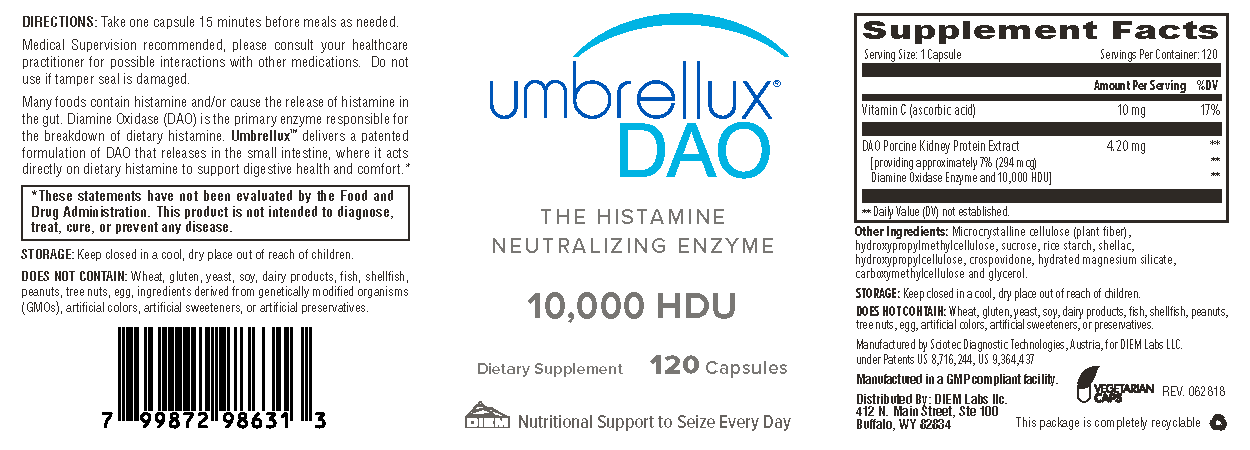 Supplement facts for Umbrellux DAO